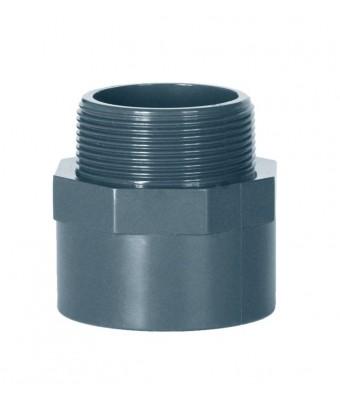 Niplu Adaptor PVC: mufa lipire - filet exterior Ø50 mm x 1 1/2'' - CEPEX
