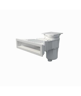 Skimmer 17.5L NORM prefabricat cu insertii - 495x80mm - Alb - AstralPool