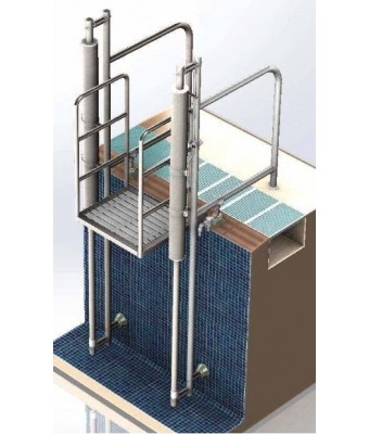 Lift piscina hidraulic cu platforma  L-1000 pentru persoane cu dezabilitati