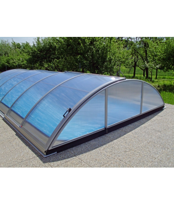 Acoperire piscina Azure Uni (l= 3,50m; L= 6,42m; H= 1,10m)