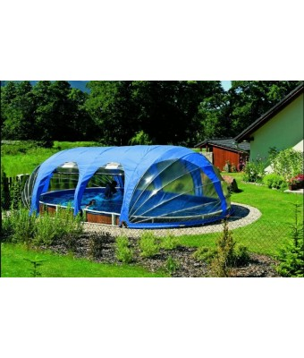 Acoperire mobila piscina rotunda diametru 4,9m