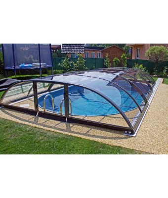 Acoperire piscina Azure Flat Compact (l= 3,75m; L= 5,10m; H= 0,75m)