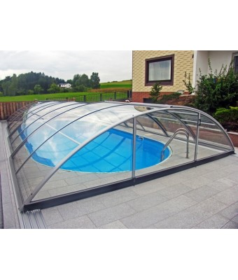 Acoperire piscina Azure Uni Compact (l= 4,75m; L=12,68m; H= 1,45m)