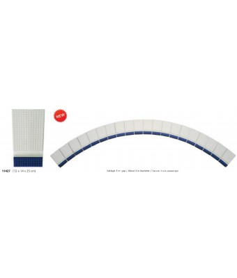 Bordura pentru margine rotunda - Petit Carre Angle Handle (Cobalt)