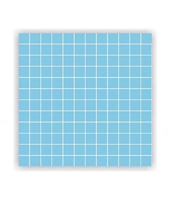 Mozaic portelan 2,5 x 2,5 cm - Light Blue