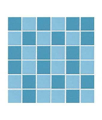 Mozaic portelan 5 x 5 cm - Mix 2 Blue