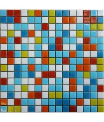 Mozaic din sticla  2 x 2 cm - Mix 201