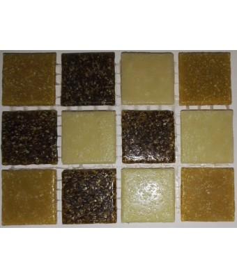 Mozaic din sticla  2 x 2 cm - Mix 401