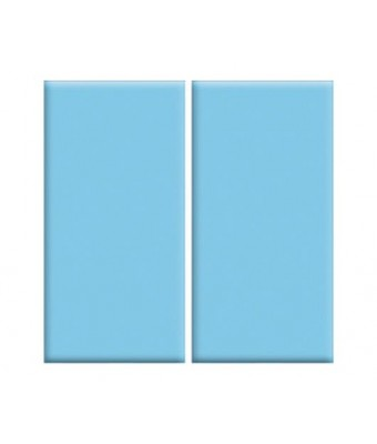 Placa portelan 12,5 x 25 - Light blue