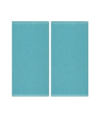 Placa portelan 12,5 x 25 - Turquoise