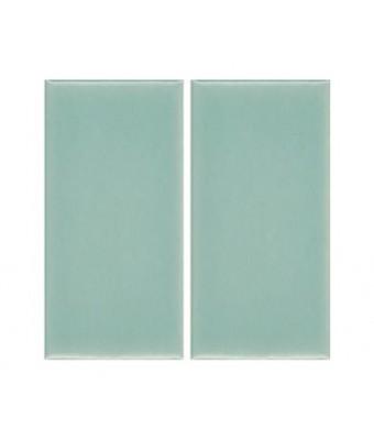 Placa portelan 12,5 x 25 - Aqua Green