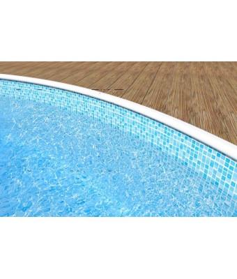 Liner Mosaic pentru piscina Azuro Wood Vario (7.3 x 3.7 x 1.2 m)