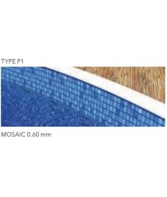 Liner MOSAIC pentru piscina Ibiza Family (4.16 x 8.0 x 1.5 m)