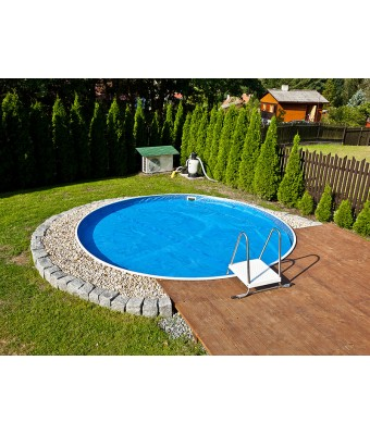 Perete metalic pentru piscina Azuro Vario rotunda - 3.6 x 1.2 metri