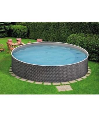 Perete metalic pentru piscina Azuro Rattan rotunda - 3.6 x 1.2 metri