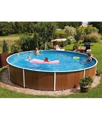 Perete metalic pentru piscina Azuro Wood Vario rotunda - 3.6 x 1.2 metri