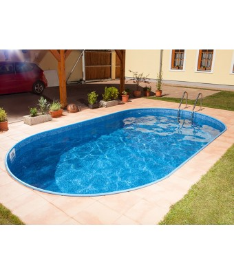 Perete piscina Ibiza Family ovala - 3.20 x 6.0 x 1.2 metri