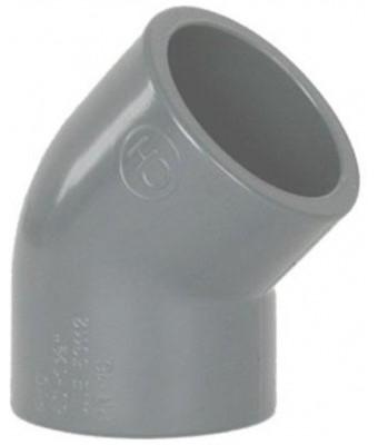 Cot PVC-U D50 45º-Cepex