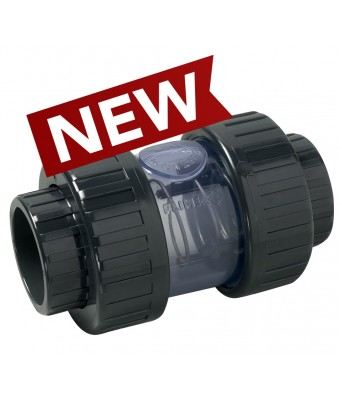 Clapeta de sens cu corp transparent PVC D50 - SOROFLEX
