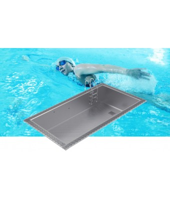 Piscina din inox cu overflow OPTIMAL 5x3x1,2m - AstralPool