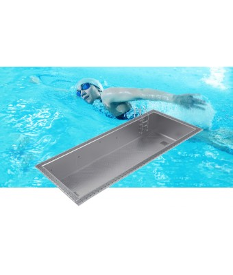 Piscina din inox cu overflow OPTIMAL 9x3x1,2m - AstralPool