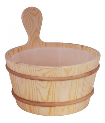 Galeata pentru sauna din lemn de pin - 4 litri