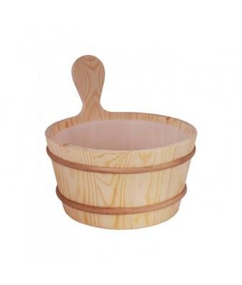 Galeata pentru sauna din lemn de pin - 3 litri