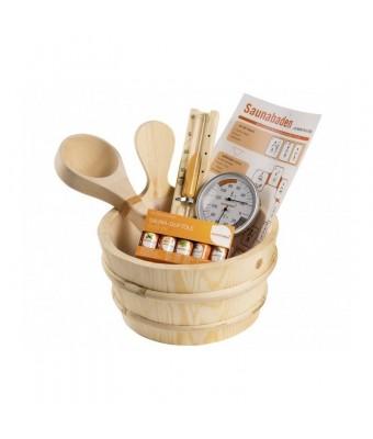 Set accesorii din lemn pentru sauna - 11 piese - Sentiotec