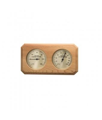 Termo-Hygrometru din lemn de cedru rosu pentru sauna - Sentiotec