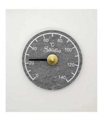 Termometru din piatra de talc (stealit) pentru sauna - Sentiotec