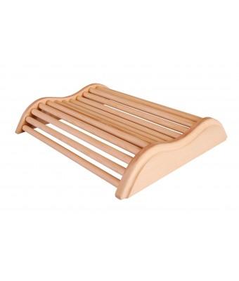 Tetiera Wave pentru sauna din lemn de culoare deschisa