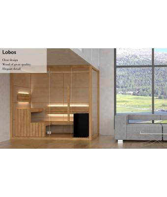 Saună finlandeză 134x254x210 - model Lobos