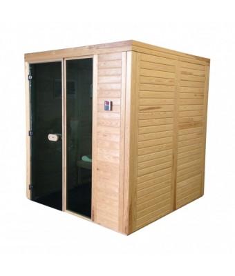 Sauna uscata modulara Home 2.5 x 2 x 2.2 m din pin alb