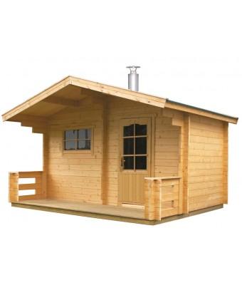 Sauna uscata de exterior Keitele cu soba pe lemne