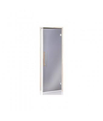 Usa PREMIUM pentru sauna din lemn de plop tremurator si sticla gri - 700 x 1900 (mm) - Inchidere magnetica