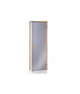 Usa pentru sauna din lemn de pin si sticla gri - 700 x 1900 (mm)