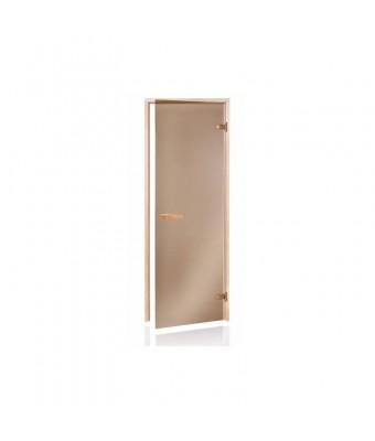 Usa pentru sauna din lemn de pin si sticla bronz - 700 x 1900 (mm)