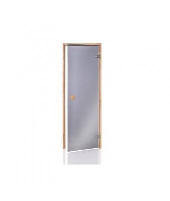 Usa pentru sauna alder din lemn de anin si sticla gri - 700 x 2000 (mm)
