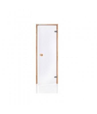 Usa pentru sauna din lemn de aspen si sticla clara - 700 x 2000 (mm)