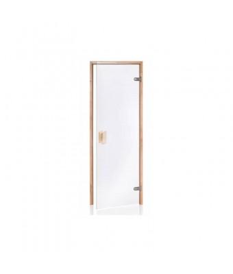 Usa pentru sauna din lemn de pin si sticla clara - 700 x 2000 (mm)
