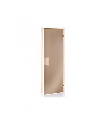 Usa pentru sauna alder din lemn de anin si sticla gri - 800 x 1900 (mm)