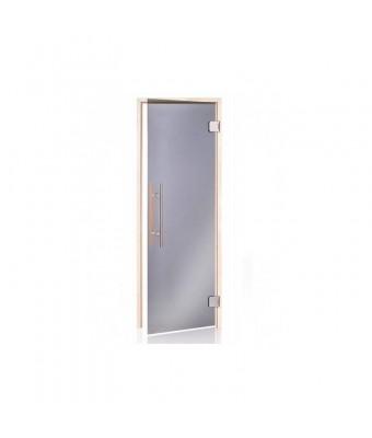 Usa pentru sauna alder din lemn de plop si sticla gri - 800 x 2000 (mm)