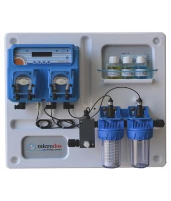 Dozator - regulator peristaltic MP Dual  PH - 1,5l/h / RX - 3,0l/h  - montat pe placa - Microdos
