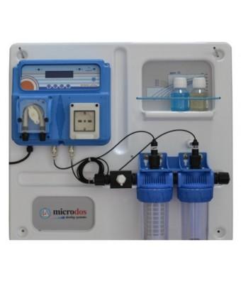 Dozator - regulator Microdos MP Dual  PH / REDOX  si electrolizor cu sare -  montat pe placă - 1.5 l/h - 1 bar - Microdos