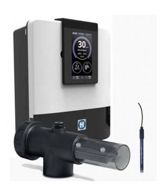 Electrolizor cu sare pentru piscina AQUARITE + SV cu celula transparenta si pH integrat - 22 grame / 110 mᶟ  - Hayward
